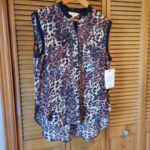 Étoile Isabel Marant Leopard Print Sleeveless Top